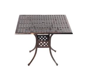 Стол из литого алюминия ЛИОН «LION» квадратный 90х90