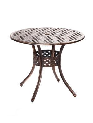 Стол из литого алюминия ЛИОН «LION» круглый D85