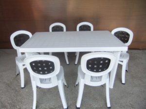 """Комплект пластиковой мебели """"Нирвана"""" (стол прямоугольный 1500х900 + 6 кресел)"""