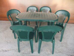 """Комплект пластиковый мебели """"Новара"""" (стол овальный 1400х800х720 + 6 кресел)"""