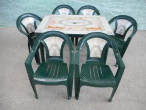"""Комплект пластиковой мебели (стол прямоугольный """"Венеция"""" 1200х850 мм + 4 кресла """"Венеция"""")"""