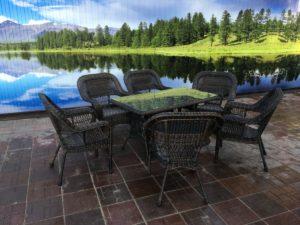 Комплект мебели Мэдисон (Medison) 6 кресел+стол