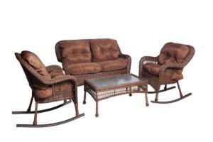 Комплект мебели Мэдисон (Medison) диван + 2 кресло-качалки + столик
