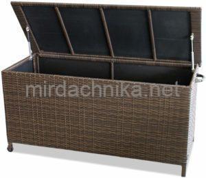"""Сундук для хранения подушек из искусственного ротанга (137*54*64) ХАРОМА """"JARAMA"""" арт.572015"""
